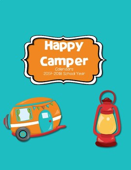 Happy Camper Calendar 2017-2018 Communication Folder-Vertical Format