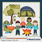 Happy Camper Camping themed Clip Art