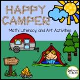 Camping Themed Math, Literacy & Art Activities