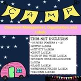 Happy Camper Classroom Labels