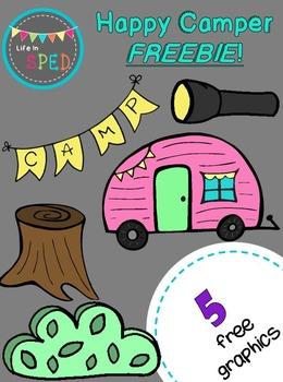 Happy Camper Freebie Clipart