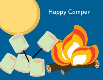 Happy Camper Note Card from Camp