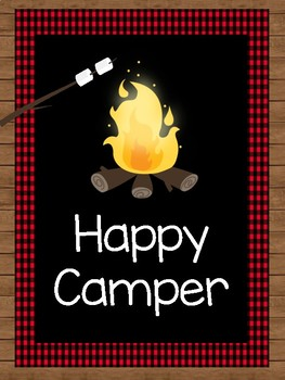 Happy Camper Print and Happy Campers Use the Habits Print