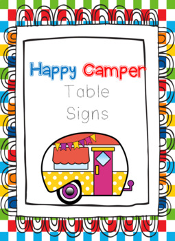 Happy Camper Table Signs