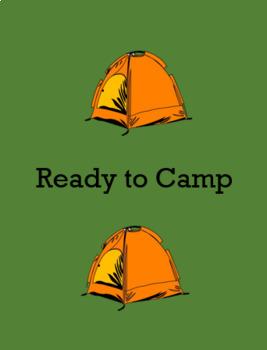 Happy Camper clip chart & behavior tickets