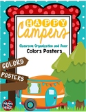 Camping Classroom Theme Colors Posters
