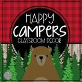Happy Campers Classroom Decor Growing BUNDLE