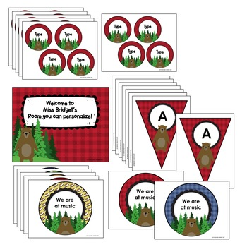 Happy Campers EDITABLE Classroom Tags, Labels, Posters and Binder Covers