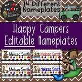 Nameplates EDITABLE - Happy Campers Decor