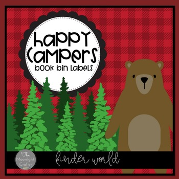 Happy Campers Theme Book Bin Labels