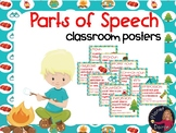 Happy Campers theme Parts of Speech wall posters Grammar