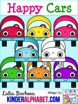 Happy Cars { Clip Art for Teachers }