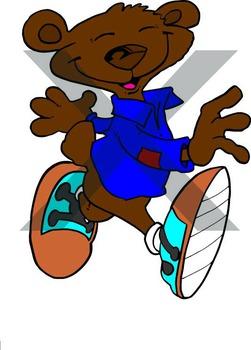 Happy Cartoon Bear Clipart