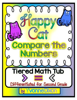 Happy Cat Compare the Numbers Tiered Math Tub