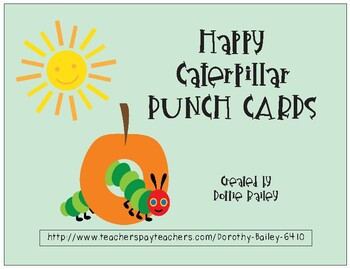 Happy Caterpillar Punch Cards