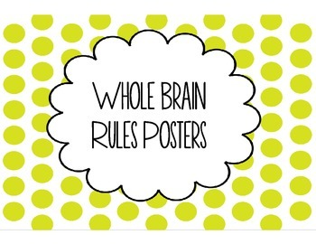 Happy Children Whole Brain Rules Posters