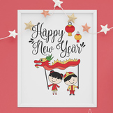 Happy Chinese Lunar New Year Poster