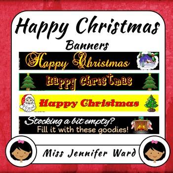 Happy Christmas Banners