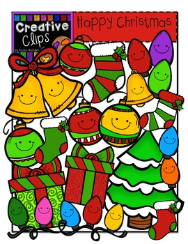 Happy Christmas Clipart {Creative Clips Clipart}