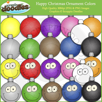 Happy Christmas Ornaments