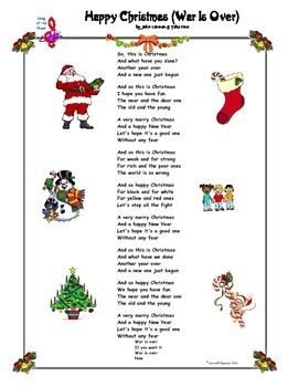 Happy Christmas Song by John Lennon (with blanks)