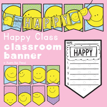 Classroom Welcome Banner - Happy Class Banner Pack