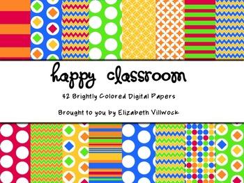 Happy Classroom Digital Papers