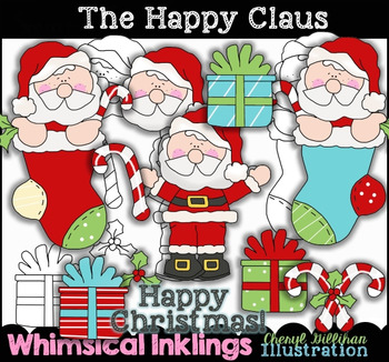 Happy Claus Christmas Clipart Collection NO LICENSE REQUIRED