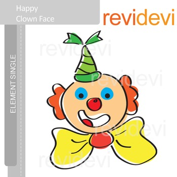 Happy Clown Face Clip art E009