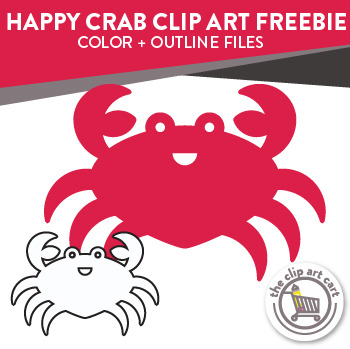 Happy Crab Clip Art Freebie