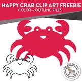 Happy Crab Clip Art Freebie