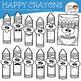 Happy Crayons Clip Art