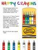 Happy Crayons Clipart Set