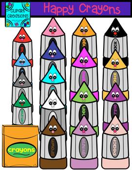 Happy Crayons clipart
