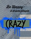Happy Crazy Classroom Sign