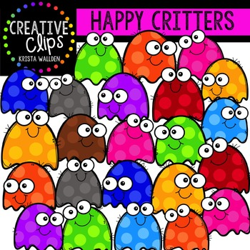 Happy Critters {Creative Clips Digital Clipart}
