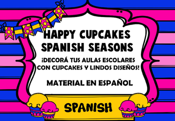 Happy Cupcake Spanish Seasons