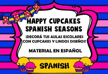 Happy Cupcake Spanish Seasons