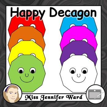 Happy Decagon Clipart