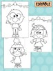 All About Me Kids -  Happy Desk Editable Coloring Pages