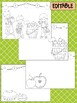 Apple Picking Happy Desk Editable Coloring Pages, Name, First Last Day of School