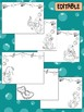 Happy Desk Coloring Sheets - First Day of School, Kindergarten,Editable Mermaids