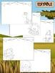 Happy Desk Coloring Sheets - First Day of School, Kindergarten, Editable Safari