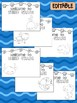 Happy Desk Coloring Sheets - First Day of School - Third Grade, Editable Ocean