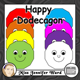 Happy Dodecagon Clipart