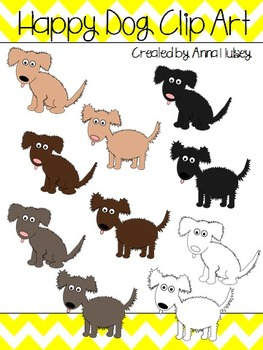 Happy Dog Clip Art (Graphics for Commercial Use)