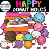 Happy Donut Holes Clip Art  {Donut Clip Art}