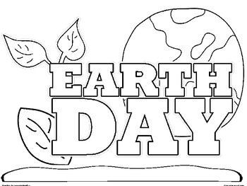 Happy Earth Day! Coloring Sheets