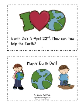 Happy Earth Day! Emergent Reader