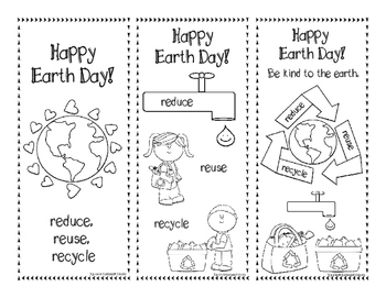 Happy Earth Day Reduce, Reuse, Recycle Bookmarks